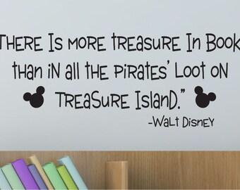 Disney Decals - Walt Disney Quote - Vinyl Decals - Wall Decals - Nursery decals - Reading Decals - Playroom Decals - Vinyl