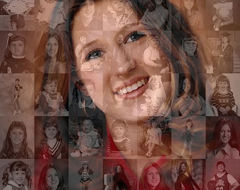 Unique, Personalized Graduation Gift - Photo Collage Mosaic (8x10 or 10x10 inch) for High School Grad, University Grad or College Grad