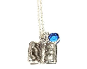 Ravenclaw Silver-plated Book Necklace