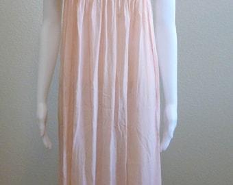 Pink Irish Crochet SILK Nightgown Peach Early Century