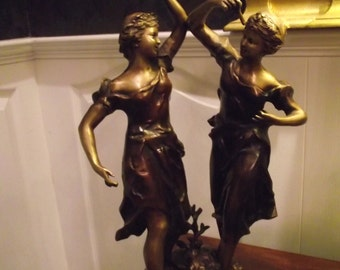 Classic Bronze Dancing Girls Statue Large Excellent Quality