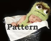 Instant Download Pattern - Crochet Hat Inspired by Oscar the Grouch - Sizes Newborn - 24 Months