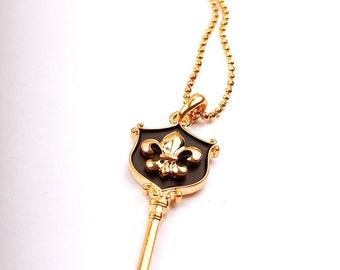 Fleur De Lis Key Necklace