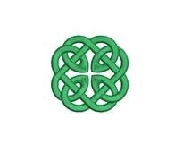 Machine Embroidery Design Instant Download - Celtic Knotwork Medallion 5