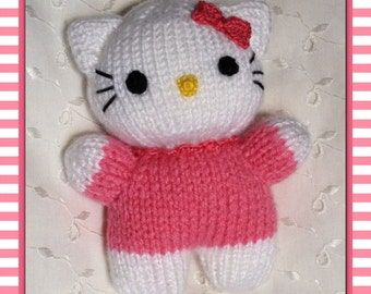 HELLO KITTY DOLL TOY KNITTING PATTERN   KNITTING PATTERN
