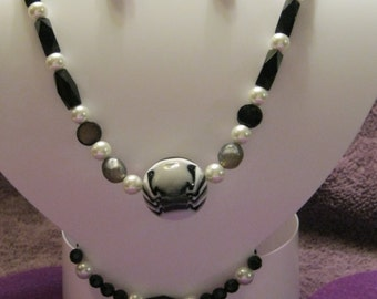BLACK, WHITE And GRAY Jewelry Set