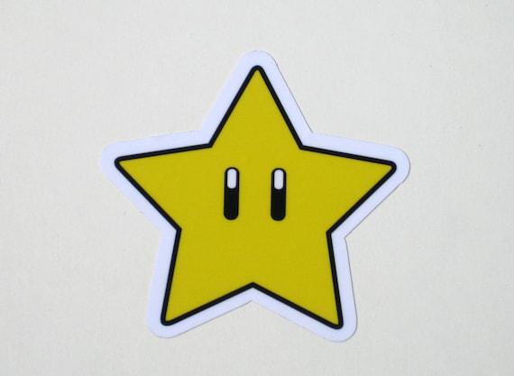 Mario Super Sterne Aufkleber