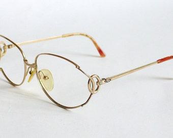 Christian Dior Vintage Eyeglass Golden Frame 1980s