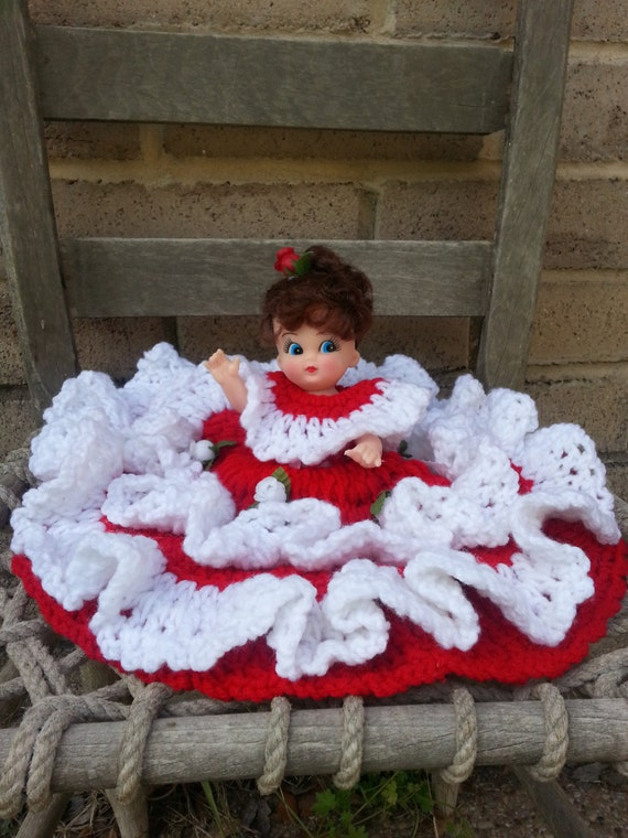 Southern Belle Princess Crochet Bed Pillow Doll Vintage 50s