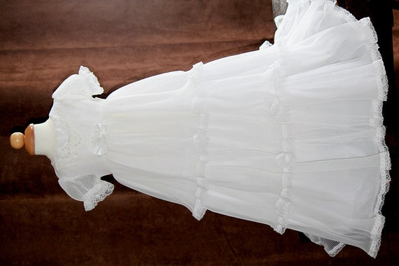 Items similar to Baby Girls White Christening Dress