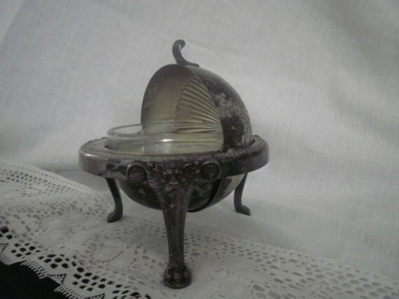 F B Rogers Silver Co 273 1883 Crown Round Butter Dish