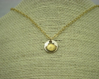 Silver Shell Charm Necklace