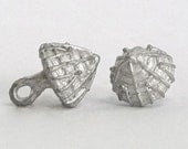 Replica Tudor Pewter Thread Cone Buttons for Renaissance/Elizabethan Reenactment - Small