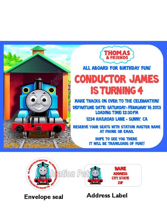 Thomas Birthday Invitations was very inspiring ideas you may choose for invitation ideas