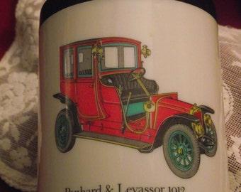 Antique 1912 Panhard & Levassor Canister,Classic Car Canister,Collectible Canister,Plastic Can Jar Canister,Antique Car Collectible