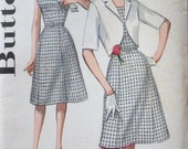 vintage early 1960s BUTTERICK 2255 sz 18 1/2 BUST 39 sleeveless DRESS sewing pattern