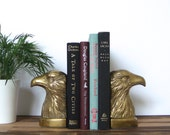 Brass Eagle Bookend, Mid Century Modern Vintage Home Decor