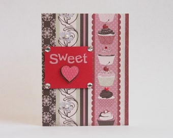Cupcake Sweetheart Card