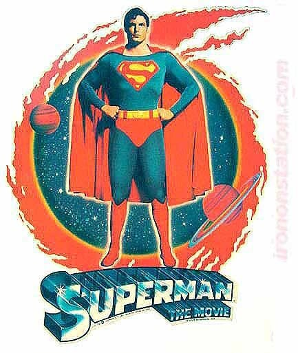 1970s Superman The Movie 70s Vintage Iron On tee by ...