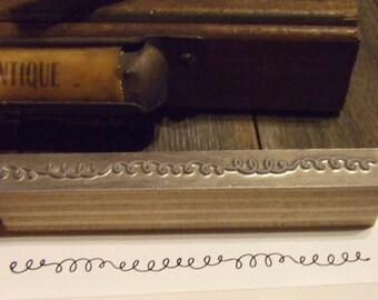 Letterpress Printing Block - Squiggly Line Border - Letterpress Blocks - Print Blocks - Mounted Letterpress Block
