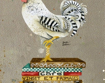 Art Print. Rooster Wallace. Gourmet Edition