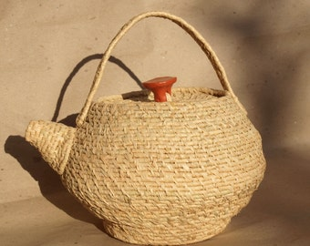 Tea-Pot Coiled Basket