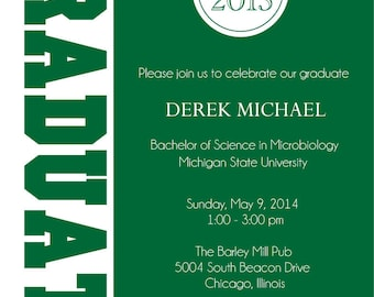 Graduate Graduation Party Invitations - College or High School Grad Announcement