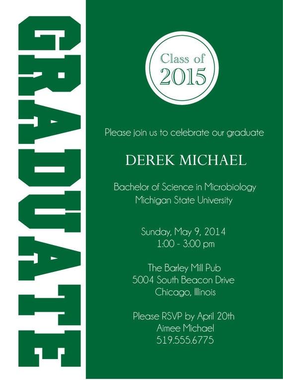Invitaciones fiesta graduación posgrado colegio o escuela