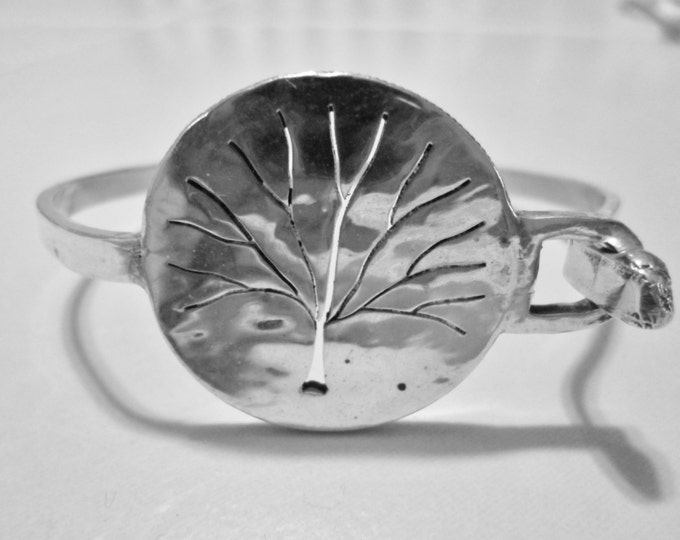 tree of life bangle half dollar solid back