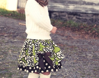 Kitty Twirl scallop skirt - pdf Tutorial - 3m - 12y