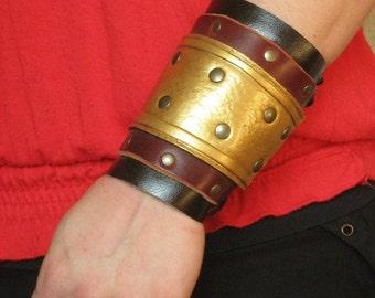 Medieval Roman Armor Leather BracerS -A Pair-