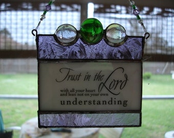 Stained Glass Suncatcher Window Hanger