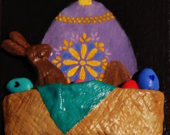 Easter Goldmine 3D Postcard Painting