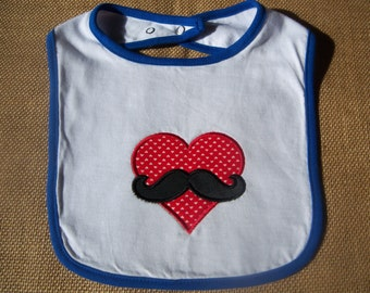 Baby/Toddler Bib - Mustache Love