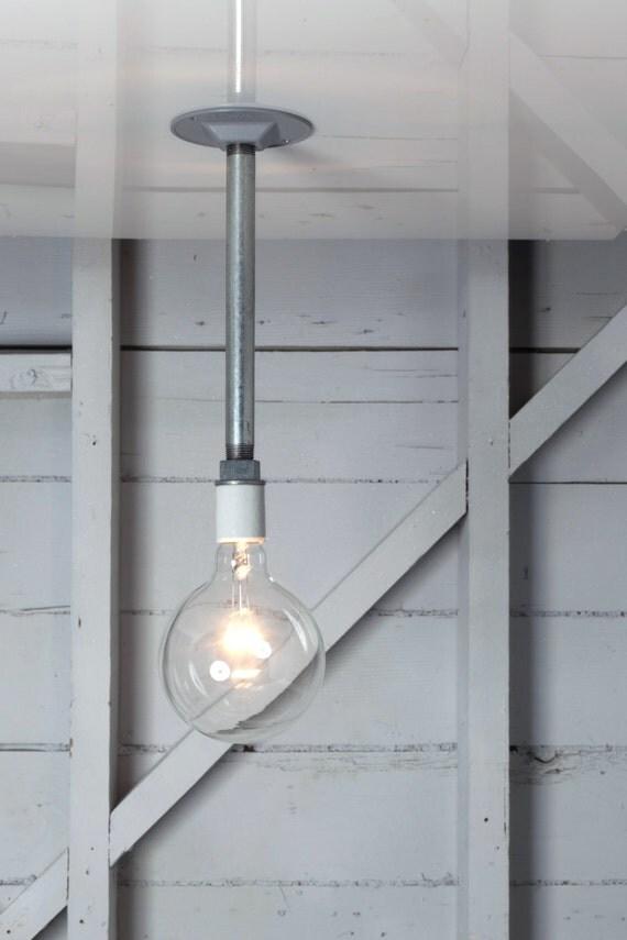 Industrial pendant light bare bulb pipe lighting for Industrial pipe light socket