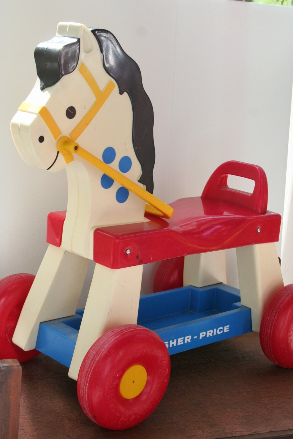 Classic Fisher Price Toys : Vintage fisher price horse riding toy s childrens