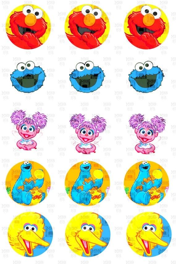 Sesame Street Big Bird Elmo Cookie Monster Abby Cadabby