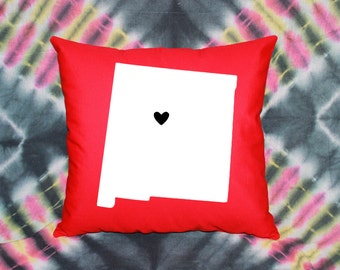 State Love Pillow - NEW MEXICO (Albuquerque)