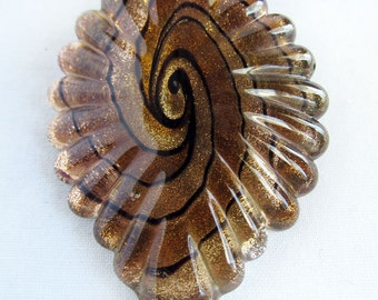 Hemp Pendant Necklace with Gold Leaf Pendant