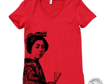 Women's GEISHA American Apparel Poly-Cotton Tee