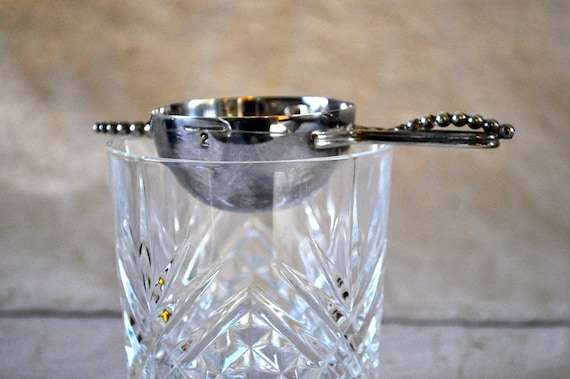 Charlie Jin's Tippling Jigger - Silver-Plated Vintage Barware