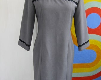 60s Handmade Rick Rack Dress / L / XL