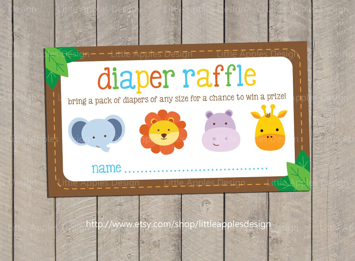 baby shower diaper raffle tickets safari baby shower diaper