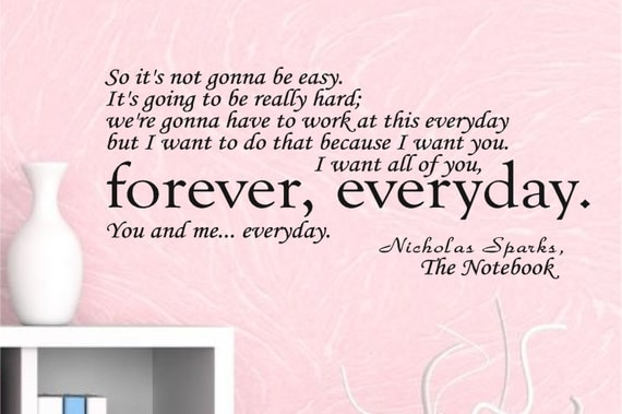 Toys Are Us Search : The notebook wall decal quote