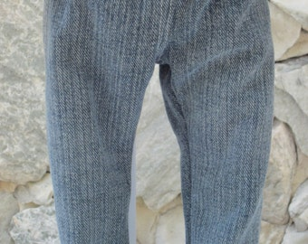 """Faded, straight leg jeans for an 18"""" doll."""