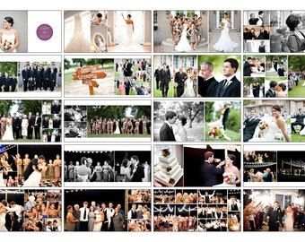 Wedding Album Template, WHCC Photoshop Album Template, 12x12, 10x10, Free Production Actions - Auto Insert Photos Action