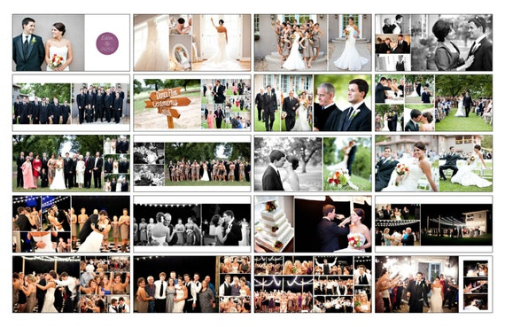 Items similar to wedding album template whcc photoshop for Wedding photo album templates in photoshop