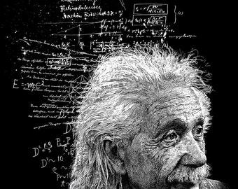 Albert Einstein Print 11x14 Fine Art Print Physics Gift