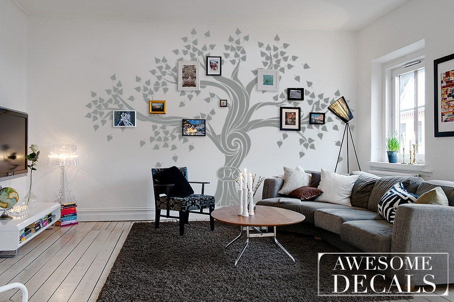 family tree wall decal tree wall decal custom wall art. Black Bedroom Furniture Sets. Home Design Ideas