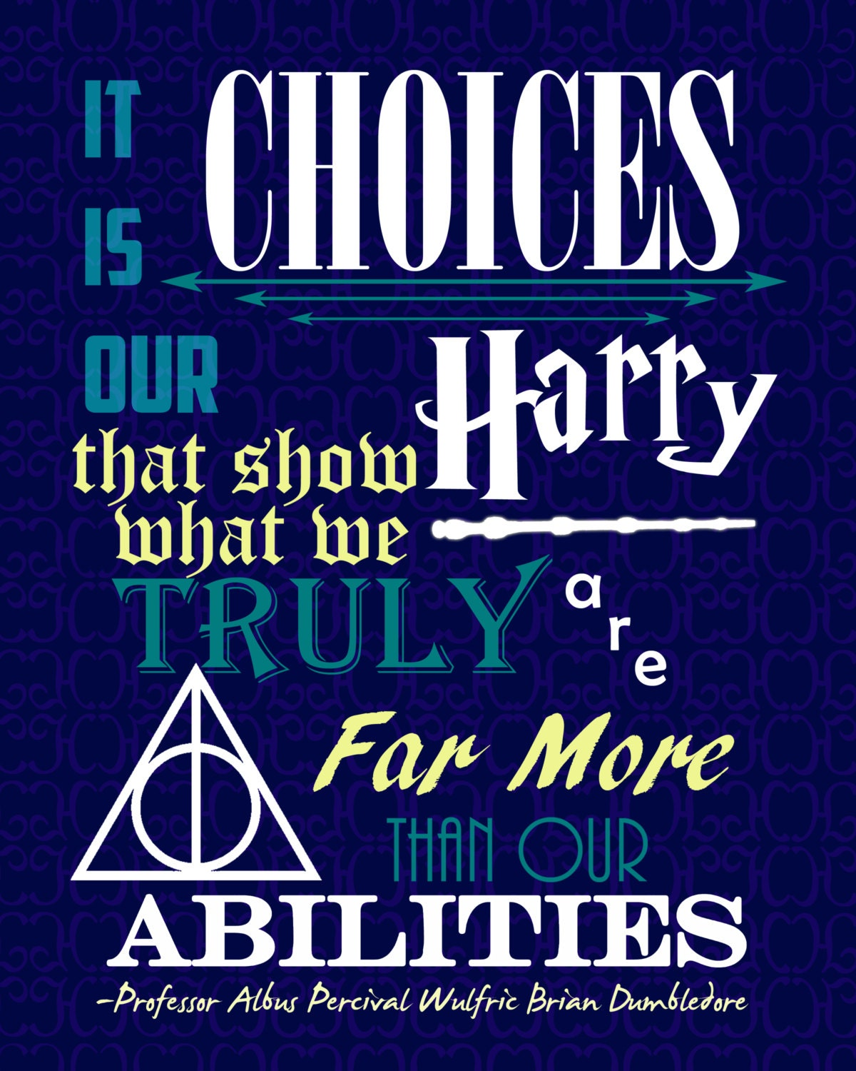 16x20 Dumbledore Quote Poster Harry Potter by PrintsOfTheNerds